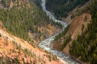 Inspiration Point, Yellowstone River, Grand Canyon Of The Yellowstone Fine-Art Print