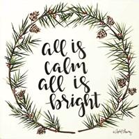 All is Calm Pinecone Wreath Fine-Art Print