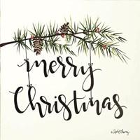 Merry Christmas Pinecone Swag Fine-Art Print
