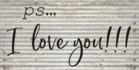 PS  I Love You Fine-Art Print