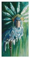 Stork with Feathered Crown Fine-Art Print