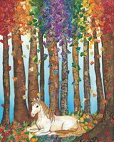 Golden Mane Unicorn Fine-Art Print