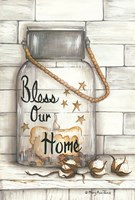 Glass Luminary Bless Our Home Fine-Art Print