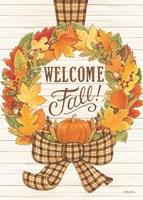 Welcome Fall Wreath Fine-Art Print