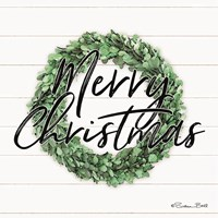 Merry Christmas Boxwood Wreath Fine-Art Print