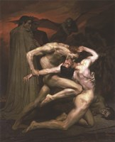 Dante and Virgil in Hell, 1850 Fine-Art Print