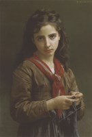 Young Girl Knitting, 1874 Fine-Art Print