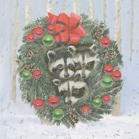 Christmas Critters Bright VI Fine-Art Print