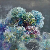Abstract Hydrangea Dark Fine-Art Print