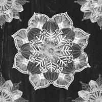 Mandala Morning V BW Fine-Art Print