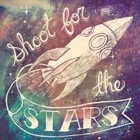Universe Galaxy Shoot For the Stars Fine-Art Print