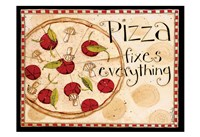 Pizza Fixes Everything Fine-Art Print