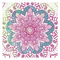 Flower Mandala Pop Fine-Art Print