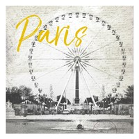 Roue De Paris Yellow Fine-Art Print