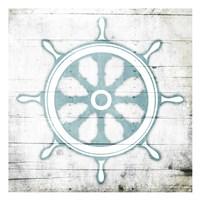 Teal Steering Wheel Toned Down Fine-Art Print