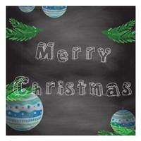 Christmas 2nd Chalk Board Fine-Art Print