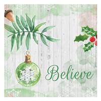 Christmas Believe Green Fine-Art Print