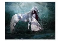 Fairy with Unicorn Fine-Art Print