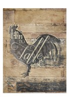 Farm To Table Rooster Fine-Art Print