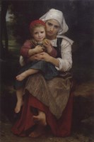 Breton Brother and Sister Fine-Art Print