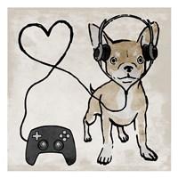 Gaming Chihuahua Fine-Art Print