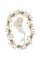 Mermaid And Florals Fine-Art Print
