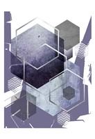 Abstract geo Ultra Violet 1 Fine-Art Print