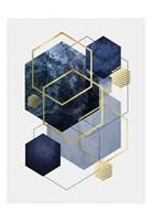 Navy Gold Geo 2 Fine-Art Print