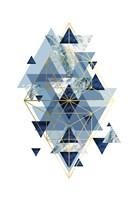 Navy Gold   Geometric Fine-Art Print