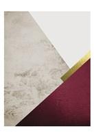 Beige Burgundy Mountains 1 Fine-Art Print
