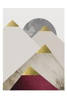 Beige Burgundy Mountains 2 Fine-Art Print