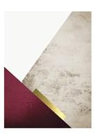 Beige Burgundy Mountains 3 Fine-Art Print