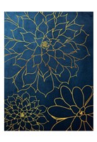 Navy Gold Succulent 3 Fine-Art Print
