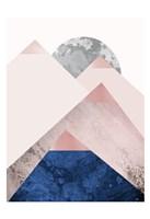 PinkNavy Mountains 2 Fine-Art Print