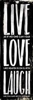 Live Love Laugh Fine-Art Print