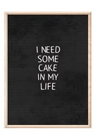 Cake In My Life Black Fine-Art Print