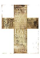 Text Gold Cross Fine-Art Print