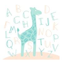 Giraffe Fun Cream Fine-Art Print