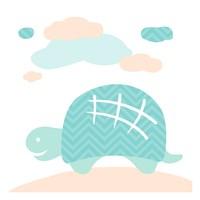 Turtle Fun Cream Fine-Art Print