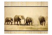 Tribal Elephants Fine-Art Print