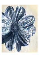 Indigo Marble Bloom 1 Fine-Art Print