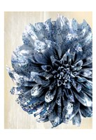 Indigo Marble Bloom 2 Fine-Art Print