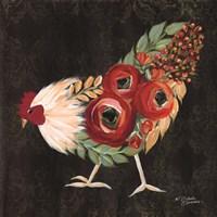 Botanical Rooster Fine-Art Print