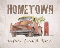 Hometown Values Found Here Fine-Art Print