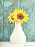 Sunflower White Vase Fine-Art Print