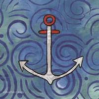 Whimsy Coastal Anchor Fine-Art Print