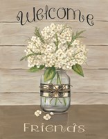 Welcome Friends Mason Jar Fine-Art Print