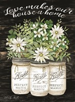 White Jars - Love Makes Our House a Home Fine-Art Print
