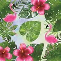 Tropical Life Flamingo I Fine-Art Print