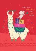 Jingle Bells Llama Fine-Art Print
